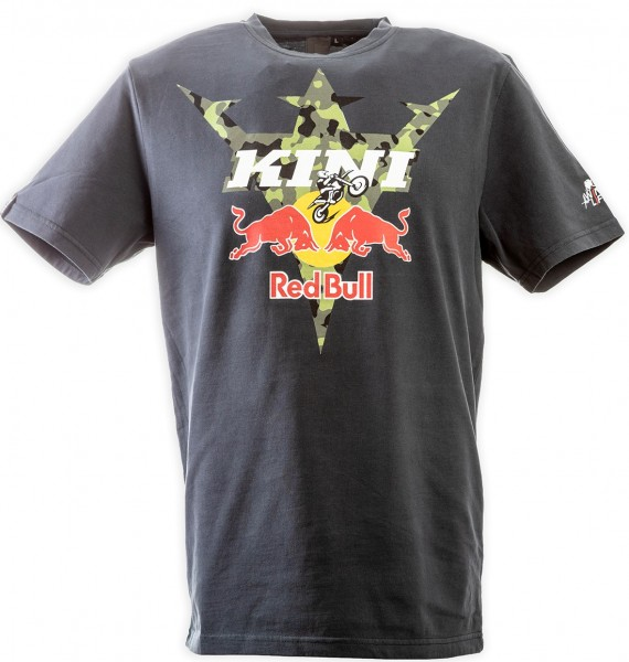 Kini Red Bull Camouflage Tee Anthracite