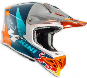 KINI Red Bull Competition Helmet Orange/White/Navy