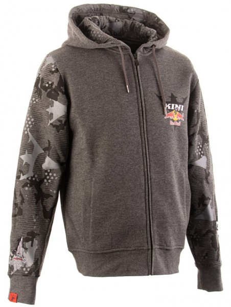 KINI Red Bull Urban Camo Zip Hoodie - Dark Grey