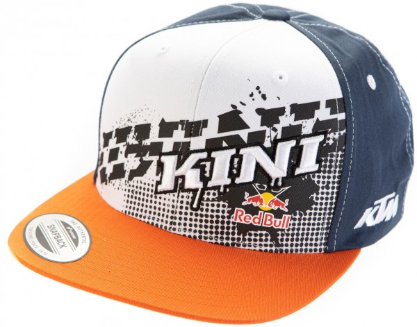 KINI Red Bull Kids Slanted Cap - Orange/White/Navy