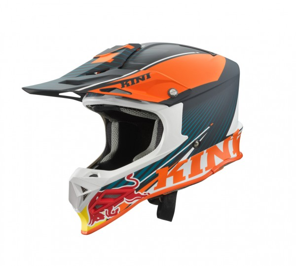 KINI Red Bull Competition Helm Orange/White/Grey